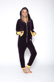 Sofa Killer eggplant color velour onesie