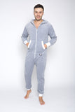 Sofa Killer light grey color summer velour men onesie