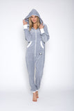 Sofa Killer light grey color summer velour onesie