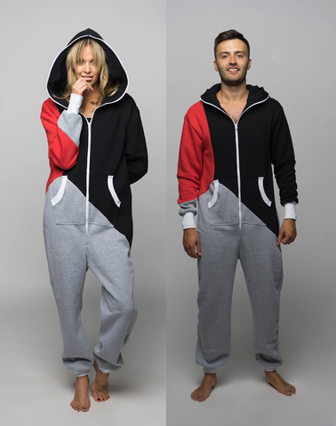 Sofa Killer tricolor couple onesies Racing