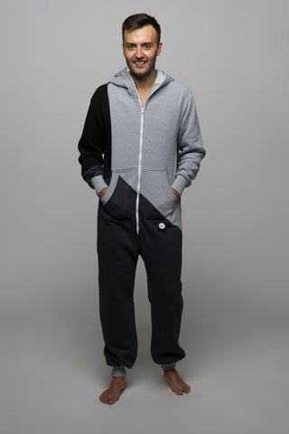 Sofa Killer tricolor onesie Grey