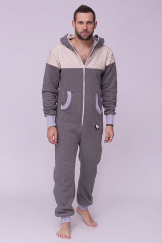 Sofa killer grey onesie with light grey applications CREAMY