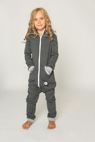 Sofa Killer dark grey color kids onesie