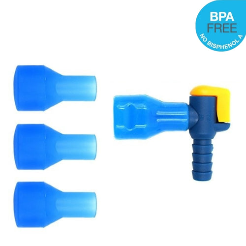 Bite Valve Replacement Mouthpiece for Hydration Pack Bladder, 90 Degree Shutoff Valve and 4 Mouth Pieces Compatible w/Water Backpack, Fit for Most Brands