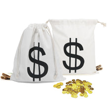 Halloween Trick or Treat $$ Money Bags - 6 pack