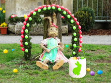 Lydia's Deal - Easter Bunny Ears Basket Canvas Bags Buckets Tote Stuffers Egg Hunt for Girls and Boys - Green