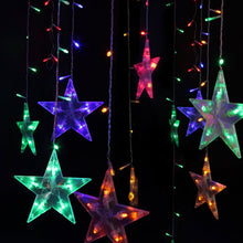 Festival Water Proof Christmas Decorations Tree lights Outdoor String Lights 120 Leds 3M 10ft Five-pointed Star String Lights For Bedroom, Patio, Parties Colorful Light