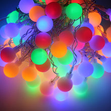 Festival Party Decorations Tree lights Outdoor String Lights 104 Leds 2M 6ft Ball String Lights For Bedroom, Patio, Parties Water Proof Colorful Light