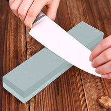 Knife Sharpening Stone Combination Dual Sided Grit With Base for Sharpening and Polishing Tool with Non Slip Base for Kitchen Knives, Hunting Knives, Pocket Knives and Tool Blades (1000/6000)