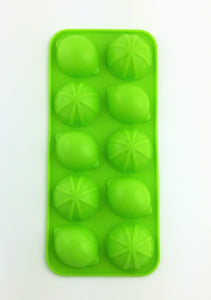 Lemon Lime Shape Candy, Chocolate, and Ice Cube Mold Tray Non-stick Soft Silicone Hot & Cold Use - 5 Pack