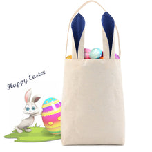Lydia's Deal - Easter Bunny Ears Basket Canvas Bags Tote Stuffers Egg Hunt for Girls and Boys - Mix 5 Handbags