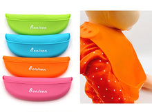Bonison Soft Silicone Bib Waterproof Baby Bib (0 To 5 Year) (Random Colors from Blue, Green, Pink, Orange) - 4 Pack