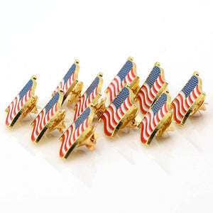 Exquisite American Flag Lapel Pin -The Stars and Stripes Lapel Pin (Flag Shape 10 pc)