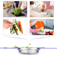 Stainless Steel Sink Garbage Strainer for Sinks and Drains, Anti-Clogging, Rust-Free - 3 Pack