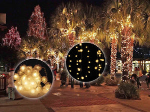 Festival Party Decorations Tree lights Indoor and Outdoor String Lights 48 Leds 1.5M 5ft Ball String Lights For Bedroom, Patio, Parties Water Proof Warm White