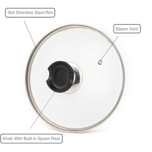 9 inch Tempered Glass Lid Accessory for Instant Pot 5 Qt and 6 Quart Pressure Cooker