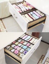 Drawer Organizer, Closet Organizer Bra Underwear Sock Tie Scarf Drawer Divider - 4 Piece Set