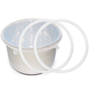 Instant Pot Silicone Sealing Rings + Inner Pot Lid - 5/6 QT and 8 QT