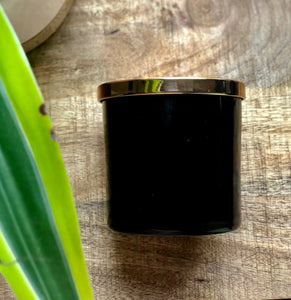SouLuxe 14 oz. Midnight Container Candle  with Rose Gold Lid