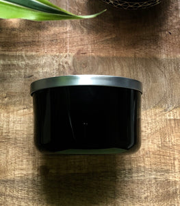 SouLuxe 22 oz. Midnight Container Candle with Silver Lid