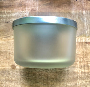 SouLuxe 22 oz. Frosted Container Candle with Silver Lid