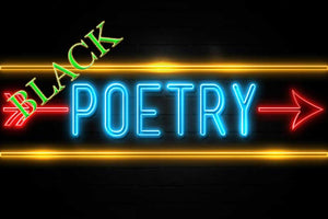 black poets colorful fluorescent lights image