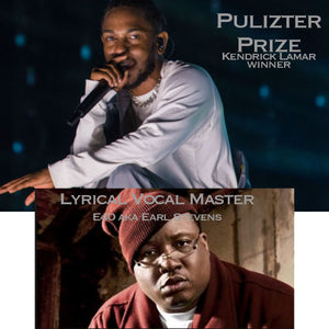 poem song image of pulizter prize winner kendrick lamar and E40