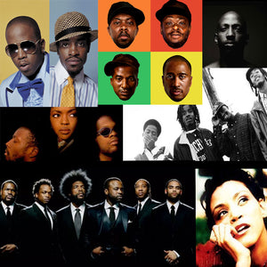 alternative hip hop artists big boi, tribe called quest, fugees, the roots