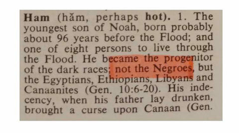 Noah's sons -  origins of negroes to Ham, Shem and Japeth