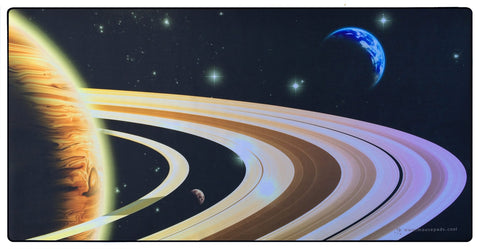 Planet Rings Giant Mouse Pad