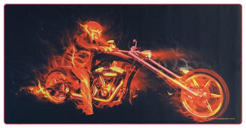 Fire Biker Giant Mouse Pad (SKU #15)