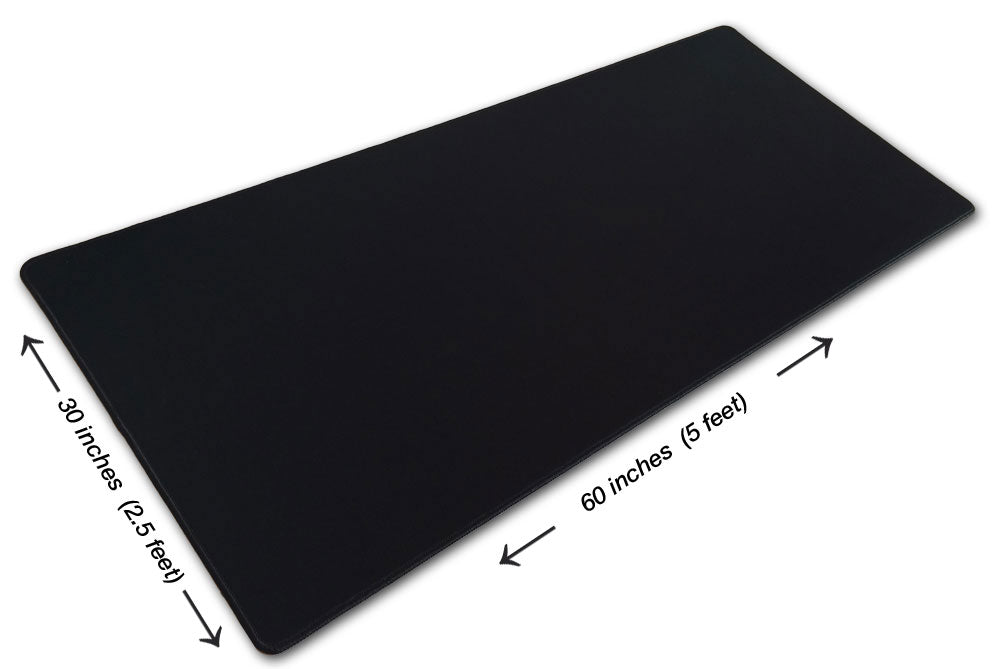 5 Foot Solid Black Pad Zilla Giant Gaming Mouse Pad 60 X 30 Sku Mousepads Cool
