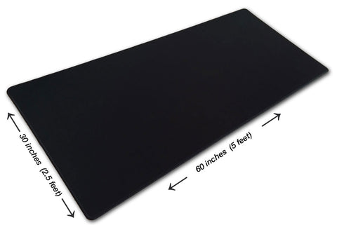 "5 Foot Solid Black Pad-Zilla® Giant Gaming Mouse Pad (60"" x 30"") (SKU #27)"