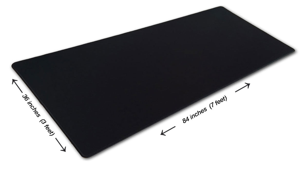 6 Foot Solid Black Pad Zilla Giant Gaming Mouse Pad 72 X 30