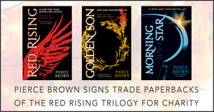 Pierce Brown ShieldSigns For Charity