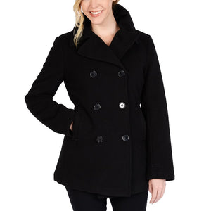 Excelled Faux Wool Double Breasted Peacoat