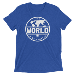 'The World' - Front White Logo Short sleeve t-shirt