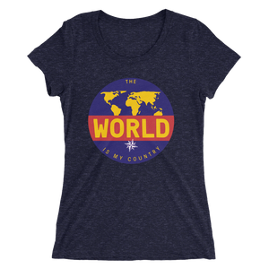 'The Traveler' Front Print Ladies' short sleeve t-shirt