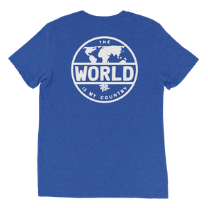 'The World' - Back White Logo Short sleeve t-shirt