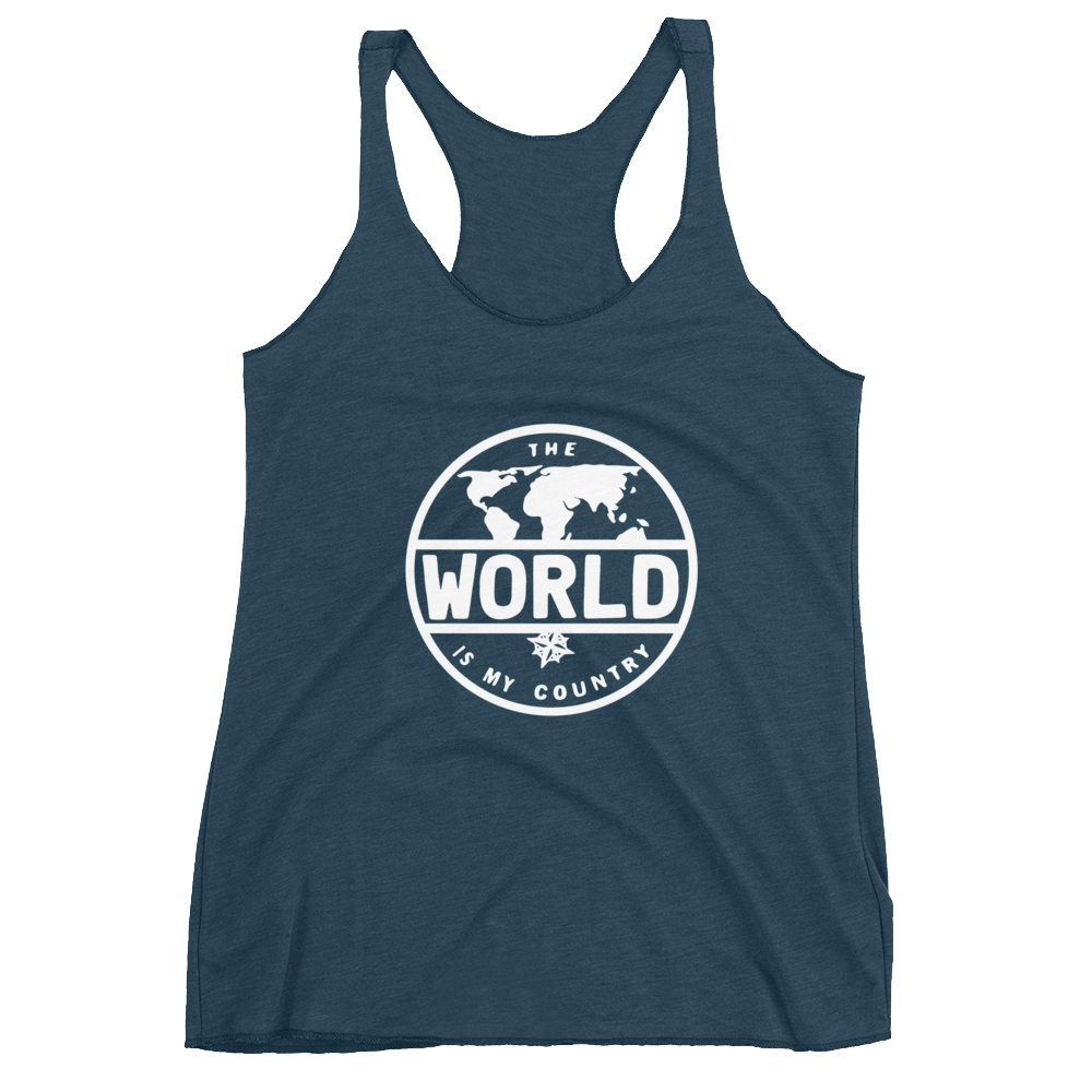 'The World' Women's Racerback Tank