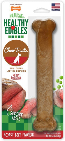 Nylabone Healthy Edibles Roast Beef Flavor Bone Dog Treat