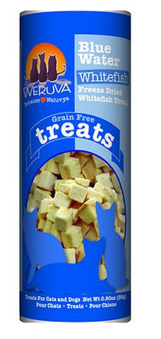 Weruva Blue Water Whitefish Freeze Dried Treats for Cats and Dogs
