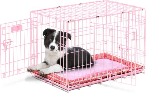 SnooZZy Baby Pink Wire Crate