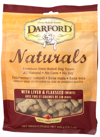 Darford Naturals Liver and Flaxseed Minis Oven Baked Treats for Dogs