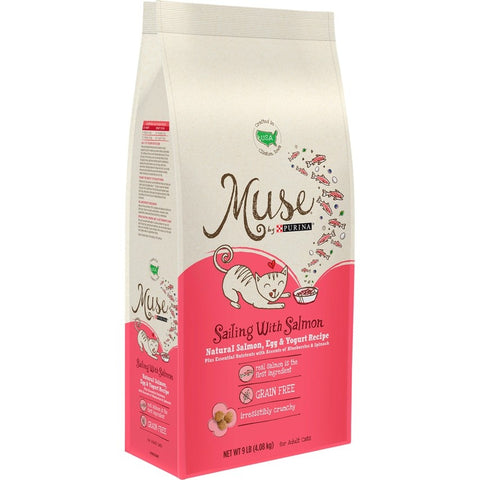 Purina Muse Adult Grain Free Sailing with Salmon Natural Salmon, Egg and Yogurt Recipe Dry Cat Food