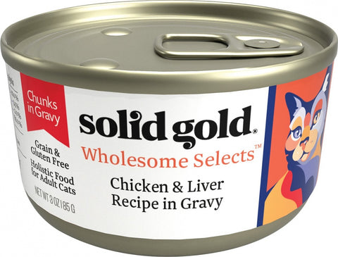 Solid Gold Wholesome Selects Grain Free Chicken & Liver in Gravy Recipe Canned Cat Food