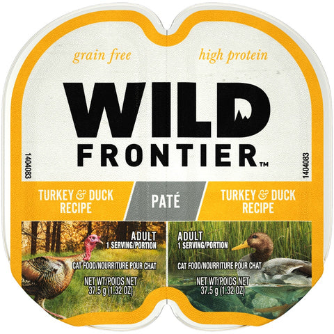 Wild Frontier Perfect Portions Grain Free Real Turkey & Duck Pate Wet Cat Food Trays