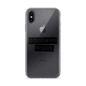 Harvey Specter Quotes Goddamn Right iPhone X Case