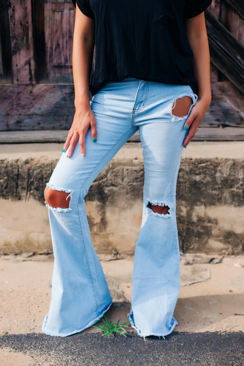 The Loretta Light Wash Bell Bottoms