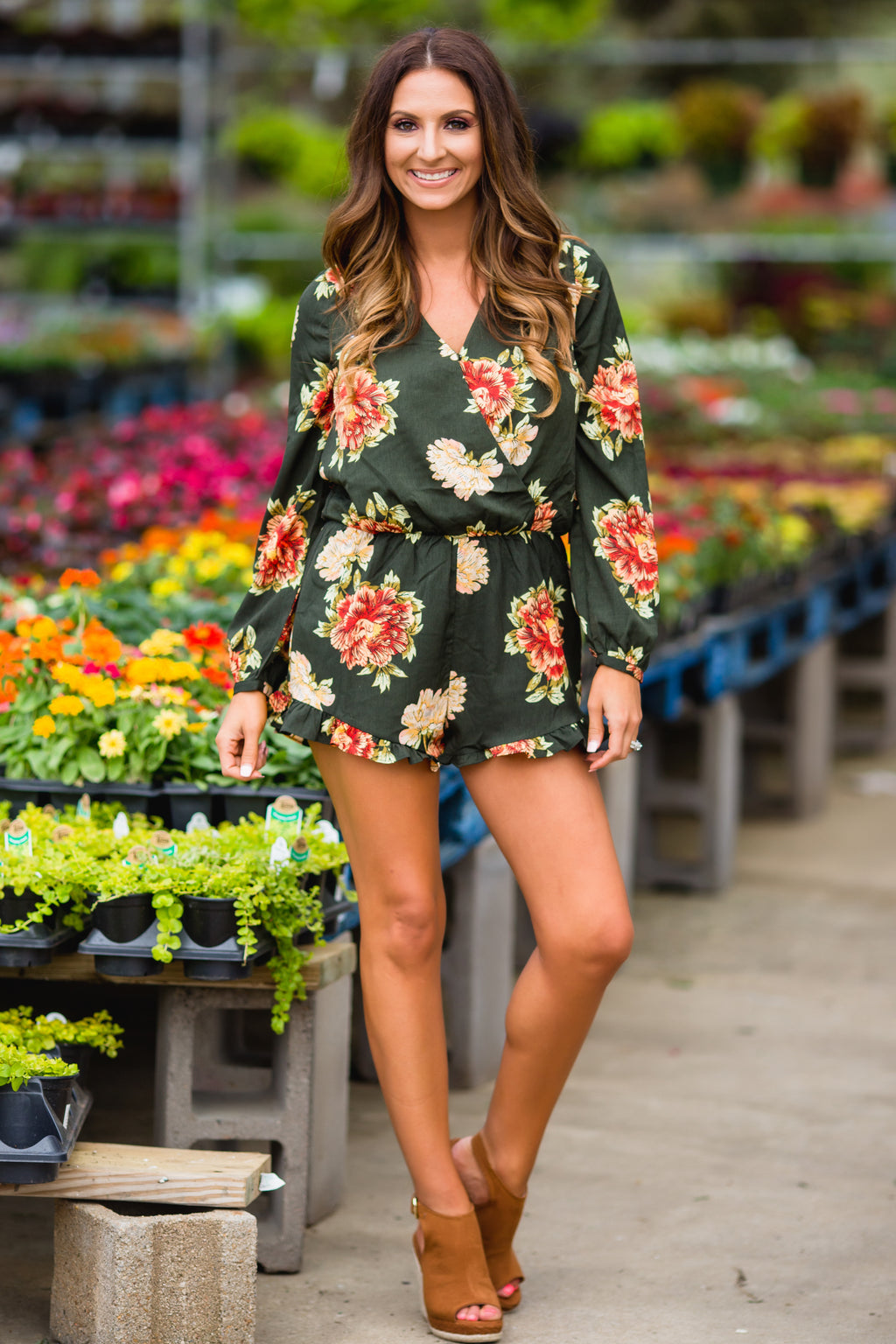 Rumor Has It Ruffle Romper - West Avenue